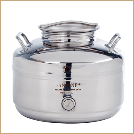 BC-CIL-10L-AQ- Sansone Europa Steel Water Drum
