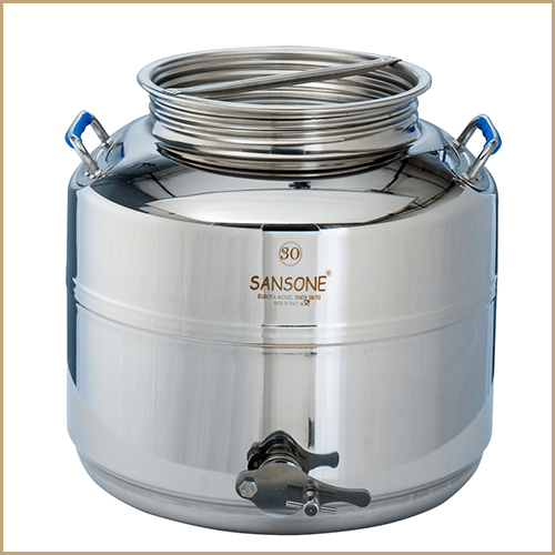 BC-CIM-30L-Sansone Europa Steel Honey Drum