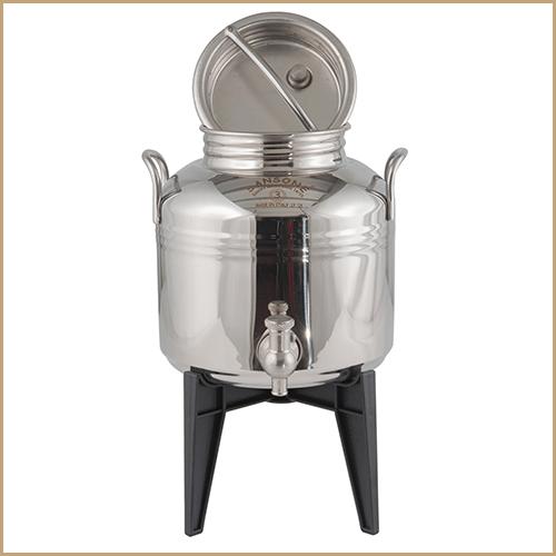BC-CIL-03L-AQ-Sansone Europa Steel Water Drum With Stand