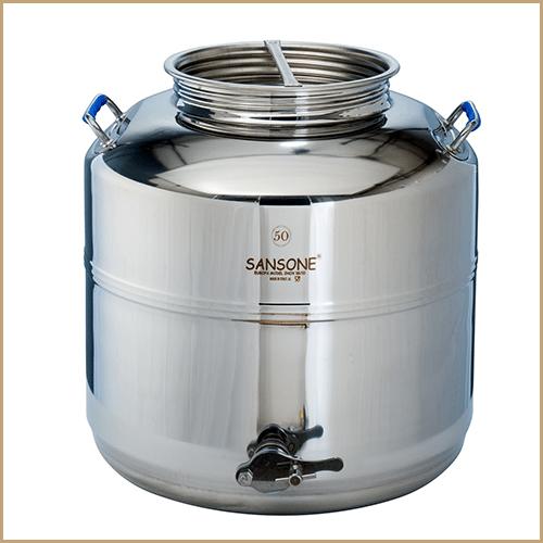 BC-CIM-50L-Sansone Europa Steel Honey Drum