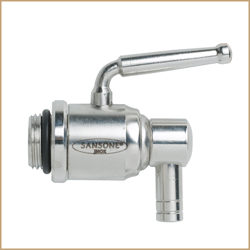 """⅜"""" Lever Tap for Glass Jars adapted for Water/Vinegar"""