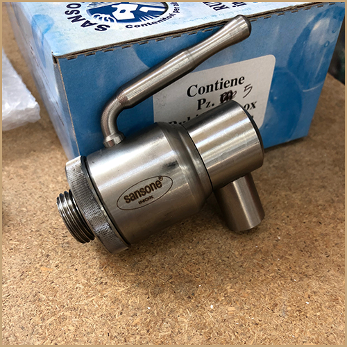 """½"""" Large Bore Outlet Lever Tap for Fusti Drums"""